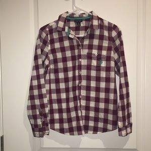 U.S. Polo Assn. | Maroon and White Collared Shirt